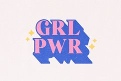 Strong Girls - Layered Serif Font Product Image 2