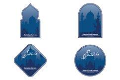 Set of ramadan kareem logo Product Image 1
