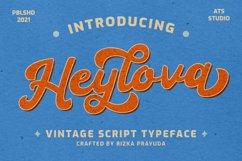 Heylova - Vintage Script Typeface Product Image 1