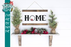 Home Cardinal Wreath SVG Product Image 1