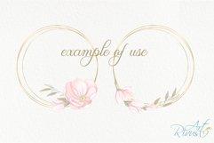Gold Frame Clipart download. Commercial use. Golden Frames Product Image 4