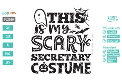 This is My Scary Secretary Costume SVG Cut File Product Image 2