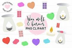 Wax Melt & Burner PNG Clipart Set - Wax Burner Clipart Product Image 1