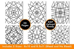 Geometric Coloring Pages - PDF,PNG, JPG files. Printable Product Image 3