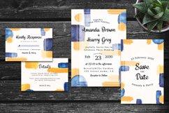 Elegant Colorful Abstract Shape Wedding Invitation Set Product Image 2