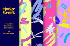 Marker strokes seamless patterns Product Image 1