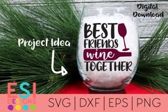 Wine SVG| Best Friends Wine Together SVG DXF EPS PNG Product Image 1
