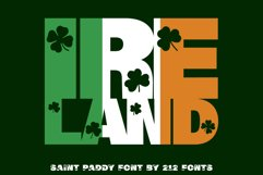 212 Saint Paddy St. Patrick's Irish Ireland Clovers OTF Font Product Image 3