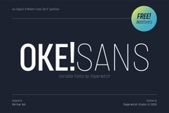 OKE! Sans Family with Variable Fonts Product Image 1