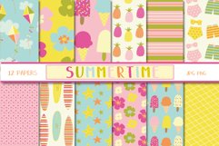 Summertime set, clipart and papers Product Image 2