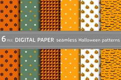 Bundle vector seamless Halloween patterns for crafts fabric Product Image 1