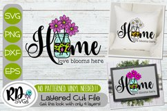 Spring Sign and Garden Flag Bundle - A Set of Layered SVGs Product Image 4