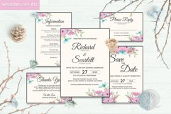 Wedding Invitation Set #12 Watercolor Floral Flower Style Product Image 1