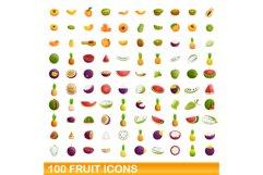 Fruit icons set, cartoon style Product Image 1