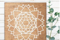 Sun Mandala SVG File | Zentangle SVG | Printable clipart Product Image 3