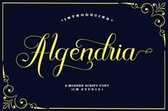 Algendria Modern Script Font Product Image 1