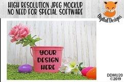 Pink Easter Bucket Mock Up Mockup Product Image 1