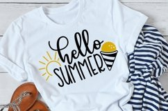 Hello summer svg with snowcone and sunshine Product Image 3
