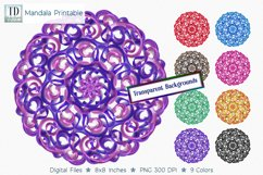 Mandala Printable Transparent Background, Sublimation PNG, Product Image 1