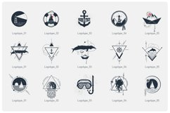 15 Logos & Badges in AI, EPS, PNG and SVG. Welcome Aboard. Product Image 4