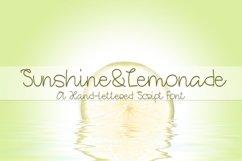 Web Font Sunshine&Lemonade - A Hand-Lettered Script Font Product Image 1