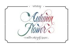 Autumn Flower Script Product Image 1