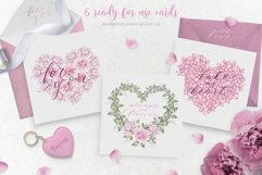 With love - watercolor romantic set Product Image 4