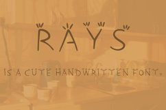 Rays handwritten font Product Image 3