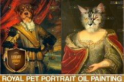 MEGA BUNDLE Royal Pet Portrait templates Digital pet Product Image 5