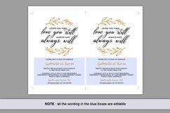Renew Vows Invitation Template, Anniversary Invite Product Image 5