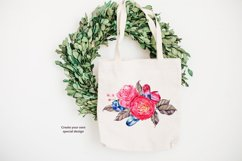 Watercolor boho flowers and crystals Product Image 2