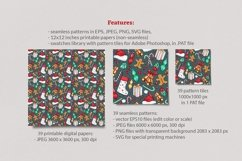 Xmas Vector Seamless Patterns Product Image 2