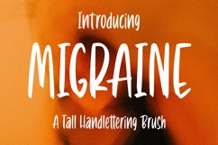 Migraine - Tall Handlettering Brush Font Product Image 1