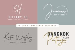 Hellena Jeslyn Signature Font Duo Free Logo Product Image 5