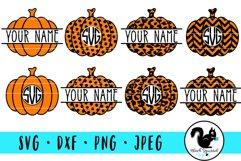 Pumpkin Monogram and Split Frames SVG Bundle Product Image 1