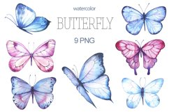 Butterfly Watercolor Clipart PNG Product Image 1