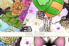 Cute Halloween Seamless Patterns, Bats Digital Papers Pack Product Image 6