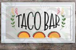 Cinco de Mayo taco bar svg & png, taco bar svg, taco svg Product Image 2