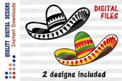 SET Sombrero clipart Cinco de mayo shirt svg design Product Image 1