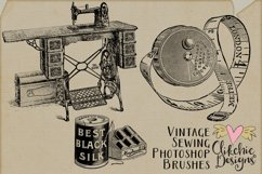 Vintage Sewing Illustrations and Photoshop Brushes Product Image 2