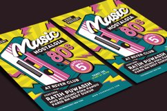 80's Music Event Flyer Product Image 3