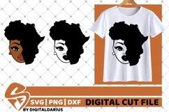 Melanin svg, Afro svg, Black Woman svg, Africa Map svg Product Image 1