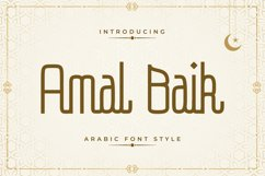 Amal Baik - Arabic Font Style Product Image 1