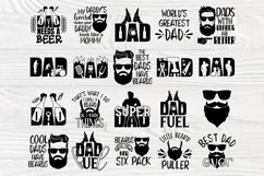 Fathers Day Svg, Beard Svg, Dad Signs, Beer Svg, Bbq Svg Product Image 2