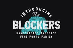 THE BLOCKERS 5 Fonts Family Product Image 5