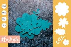 Paper Flower Template Bundle | Paper Cutting Bundle SVG Product Image 8