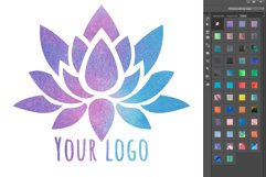 Watercolor Photoshop Layer Styles Effects. Text style Product Image 6