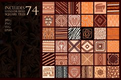 """Ethnic African Patterns and tiles """"Ancestral land"""" Product Image 4"""