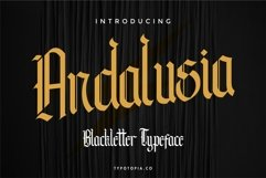 Andalusia - The Blackletter Typeface Product Image 1