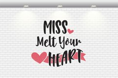 Valentine's Day - Miss Melt Your Heart SVG Cut Files Product Image 2